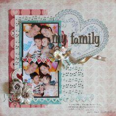 my family by:マリコ #スクラップブッキング