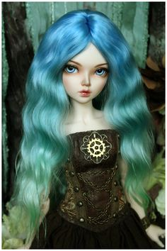 Sea wave color wig