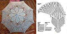 Crochet Doilies, Crochet Lace, Free Crochet, Lace Umbrella, Knitting Patterns, Crochet Patterns, Crochet Doll Dress, Vintage Crochet, Bridal Accessories