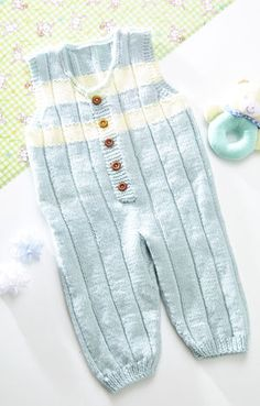 knit baby rompers - free pattern