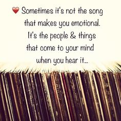 Sometimes it's not the song...