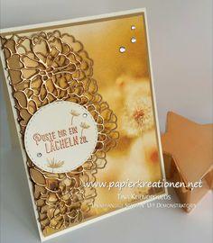 Geburtstagskarte mit Stampin' Up! Kupfer-Folie, Mit LIebe zum Detail und DSP Stille Natur