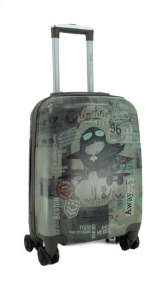 Koffertrolley Anekke Aviator taupe grün Flugzeug Suitcase, Taupe Colour, Travel Tote, Pilots, Aircraft, Briefcase