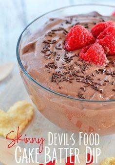 Skinny Devil's Food Cake Batter Dip