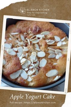 This delicious Apple Yogurt Cake makes the perfect anytime dessert of the day. It's great with a warm cup of coffee or tea.  Soft, fluffy and delicious Apple Yogurt cake that will not make you regret to eat, and I bet you will make more and more. #applecake #appleyogurtcake #applecakerecipe #dessert #cakerecipe