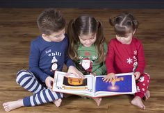 Love the idea of taking of picture of the kids in their Christmas Jammies reading a Christmas book!