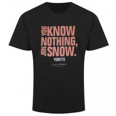 Game of Thrones You Know Nothing, Jon Snow T-Shirt