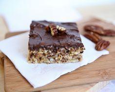 Chocolate Pecan Pie Krispie Bars