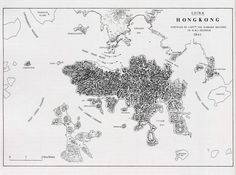 Map of Hong Kong, 1841 - surveyed by Captain Edward Belcher