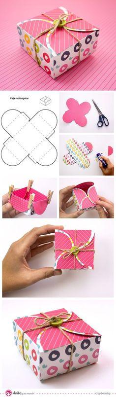 Anita y su mundo: caja de regalo - origami box #giftboxes