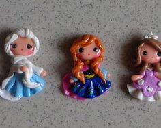 1 piece of  Ana Frozen Polymer Clay Charm Bead Scrapbooking Embelishment Bow Center Pendant Cupcake Topper