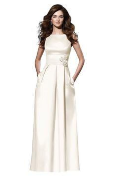 d8246f852a Dessy - White Bridesmaid Dress Duchess Satin Ivory Bridesmaid Dresses