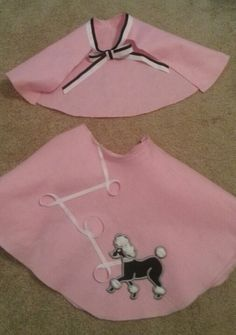 No Sew Poodle Skirt And Capelet For 50s