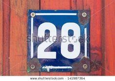 house number - number 28 - Shutterstock Premier