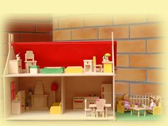 domek dla lalek- domek wiejski z ogródkiem