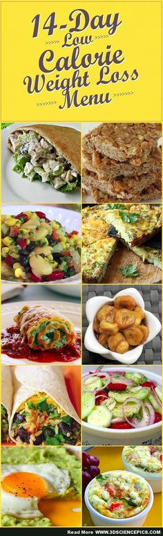 4 Day Low Calorie Weight Loss Menu that is VERY tasty
