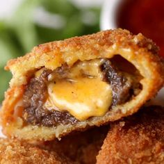 Cheeseburger Onion Rings Recipe by Tasty