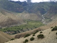 Beautiful settlement near by Ghami in Upper Mustang trekking trail.