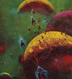 The Science Fiction Gallery Sci Fi Kunst, Science Fiction Kunst, Arte Sci Fi, 70s Sci Fi Art, Sci Fi Novels, Spaceship Art, Classic Sci Fi, Soul Art, Fantasy Landscape