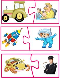 Activities for the Community Helpers Theme – Community helpers theme Preschool Centers, Preschool Activities, Educational Activities, Toddler Preschool, Toddler Crafts, Community Helpers Kindergarten, Transportation Crafts, Puzzle Crafts, Community Workers