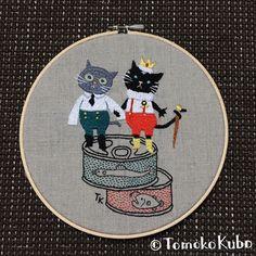 イラストから刺繍を制作