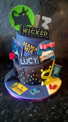 Musical theatre theme cake by Marley - For all your cake decorating supplies, please visit craftcompany.co.uk