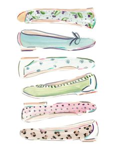 Please visit our website to purchase Fabulous Flats - Mint Julep by illustrator Beth Briggs.