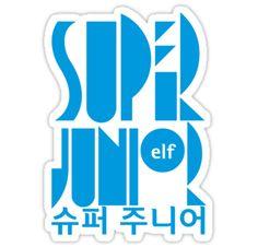 'Super Junior ELF K Pop Fan' Sticker by happycheek Siwon, Leeteuk, Heechul, Super Junior, Show Me Your Love, Pop Stickers, Last Man Standing, Kpop, Tvxq