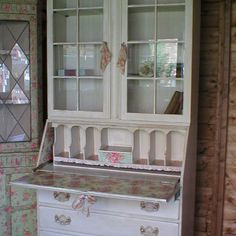 **SOLD** SHABBY ROMANTIC LARGE DISTRESSED  BUREAU DESK  DECOUPAGED WITH CATH KIDSTON    *~Romantic Painted Furniture~*  Based in the UK, Manchester> (Fan page)    https://www.facebook.com/pages/The-Rambling-Rose-Romantic-Furniture-Accessories/140352742678251