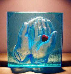 escultura en vidrio.