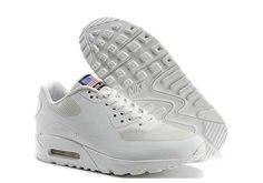 Nike Air Max 90 USA Flag Hyperfuse QS Local Tyrant Silver 613841 888 Mens Womens Running Shoes 613841 888
