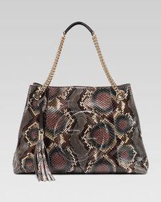 Soho Python Medium Chain-Strap Bag by Gucci at Neiman Marcus.