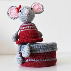 Boite amigurumi mimi la souris box mouse amigurumi