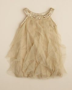 Biscotti Infant Girls' Gold Rush Ruffle Dress - Sizes 12-24 Months | Bloomingdale's