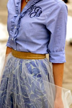 not big on the tulle overlay but love everything else...especially the monogram!