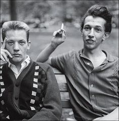 Diane Arbus, Two Young Men on a Bench, Washington Square Park, N.Y.C., 1965.