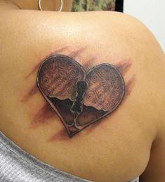 blue heart tattoo - Google Search