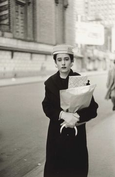 kvetchlandia:  Diane Arbus     Woman with Parcels, New York City     1956