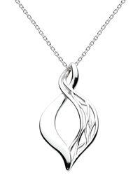 Kit Heath Sterling Silver Open Vine Twist Necklace