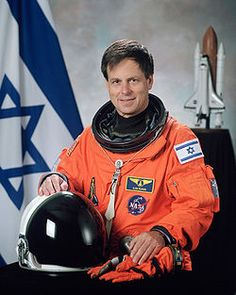 Ilan Ramon (born Ilan Wolferman; June 20, 1954 – February 1, 2003)[1] was an Israeli fighter pilot in the Israeli Air Force, and later the first Israeli astronaut for NASA. Ramon was the space shuttle payload specialist of STS-107, the fatal mission of Columbia, in which he and six other crew members were killed in the re-entry accident. At 48, he was the oldest member of the crew.