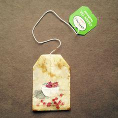 ruby silvious art — 363 days of tea. Tea Bag Art, Tea Art, Coffee Filter Art, Used Tea Bags, Paper Art, Paper Crafts, Creation Art, Tea Tins, Artist Trading Cards