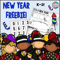 New year writing activity for kids - free!