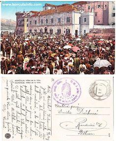 1917 postcard from Korcula sent to Bohemia