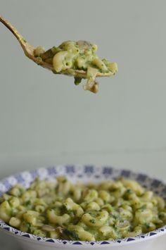 Creamy spinach pasta [vegan]