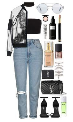 """""""//Expecting//"""" by andy993011 ❤ liked on Polyvore featuring Topshop, Elizabeth Arden, NARS Cosmetics, Yves Saint Laurent, Luv Aj, Chanel, Bottega Veneta, David Mallett, Gucci and MILK MAKEUP"""