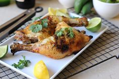 Spicy Citrus Marinade for Grilled Chicken Celebrate the first day of summer by adding new flavors to your grilled chicken! Spicy, sweet and tangy this lemon and lime marinade has everything you need to kick off a season of delicious food. Yield: Marinade for about 4 pounds of chicken Preparation: 40 minutes ½ cup fresh lime juice*½ cup fresh lemon juice*¼ cup fresh cilantro2 cloves garlic, peeled1 jalapeno, stem removed**2 tablespoons brown sugar1 teaspoon salt4 pounds chicken piecesLemon…