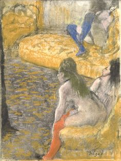 Edgar Degas (French, 1834–1917). Waiting for a Client, 1879. Charcoal and pastel over monotype on paper. Plate: 6 3/8 × 4 3/4 in. (16.2 × 12.1 cm). Private Collection.  The Eternal Mystery Of Edgar Degas, A Man Obsessed With Dance