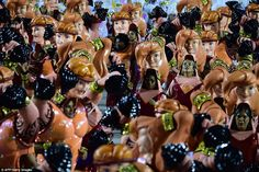 The samba schools were competing for the best performance which will be announced later in...