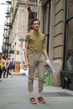 NEUTRALS  An Unknown Quantity | New York Fashion Street Style | ストリートスナップ: men