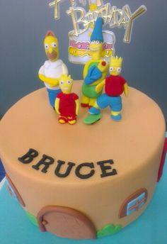 Simpsons fondant cake topper
